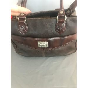 Relic Small Brown Leather Crossbody w/handles